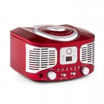 RCD320 Retro CD Player FM AUX Red