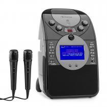 ScreenStar Karaoke Machine Camera CD USB SD MP4 incl. 2 x Microphones Black