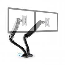 LDT09-C012USB Dual Monitor Desk Mount LED LCD 2xUSB incl. Mounting Kit