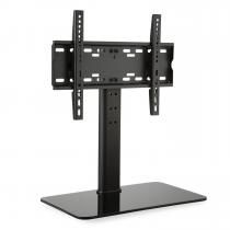 TV Stand Size M Height 60 cm Height-adjustable 23-47 Inches Glass Base black