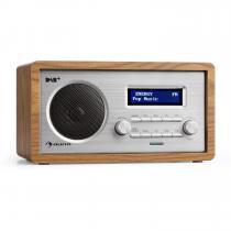 Harmonica DAB + / FM - Radio Dual-Alarm AUX LCD Wooden Case Walnut