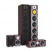 V9B Surround-sound Speaker Set 5 Speakers 440W RMS mahogany