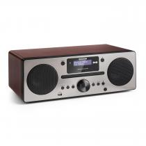 Harvard Micro System DAB + FM Tuner CD Player USB Charger Walnut