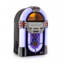 auna Kentucky Jukebox, BT, FM radio, USB, SD, MP3, CD Player, White