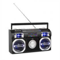 auna Oldschool '80s Retro Player CD BT USB MP3 VHF Telescopic Antenna Battery Black