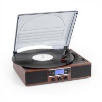 auna TT-138 DAB Turntable DAB + / FM Belt Drive 33/45 rpm Line-Out