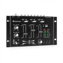 auna TMX-2211 MKII DJ Mixer 3/2-Channel Crossfader Talkover Rack Mount Black