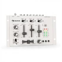 auna TMX-2211 MKII DJ Mixer 3/2-Channel Crossfader Talkover Rack Mount White