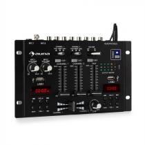auna DJ-22BT MKII Mixer 3/2-Channel DJ Mixer BT 2xUSB Rack Mount black