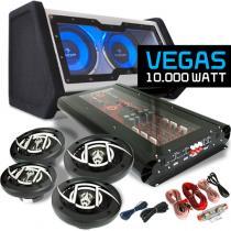 Car HiFi Set 'Vegas' 4.1 10.000 W max. Speaker woofer amplifier
