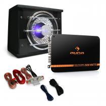Black Line 100 in car Subwoofer Amplifier Wiring Kit 1400W Set