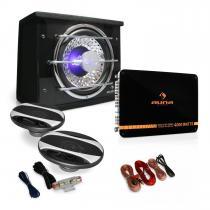 2.1 Car Audio HiFi System 'Black Line 320' Speaker Amplifier 2800W Set
