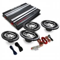 4.0 'Platin Line 420' Car Stereo System Amplifier Speakers 2400W