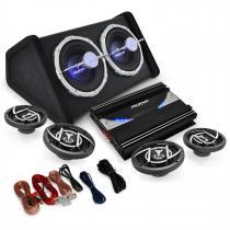 4.1 'Black Line 520' Car Hifi Stereo System Amplifier Subwoofer Set 5000W