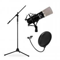 Stage & Studio Set Microphone, Tripod and Mic Shield
