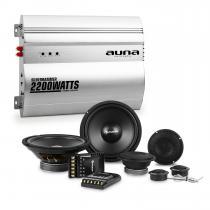 Silverhammer Car HiFi Set 2-Channel Power Amplifier Speakers & 2-Channel Power Amplifier