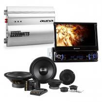 """MVD-240 7"""" Touchscreen Car Radio Car HiFi Set Speaker 2-Channel Power Amplifier"""