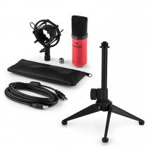 MIC-900RD USB Microphone Set V1 | Red Condenser Microphone | Tabletop Stand