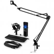 MIC-900B-LED USB Microphone Set V3 Condenser Microphone + Microphone Arm Cardioid LED