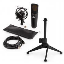 MIC-920B USB Microphone Set V1 Black Large Diaphragm Microphone & Tabletop Stand