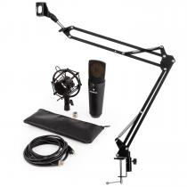 MIC-920B USB Microphone Set V3 Condenser Microphone Microphone Arm Black