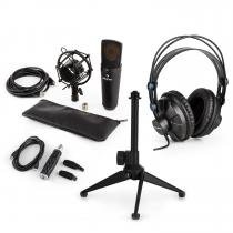 MIC-920B USB Microphone Set V2 Headphones Condenser Microphone Tripod POP Protection