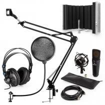 MIC-920B USB Microphone Set V5 Headphones Microphone Microphone Arm Pop Filter Shield