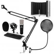 CM003 Microphone Set V5 Condenser Microphone XLR Microphone Arm Black