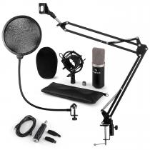 CM003 Microphone Set V4 Condenser Microphone USB Converter Microphone Arm Black
