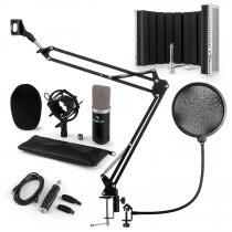 CM003 Microphone Set V5 Condenser Microphone USB Converter Black
