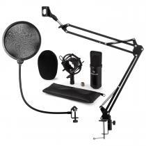 CM001B Microphone Set V4 Condenser Microphone Microphone arm POP protection black