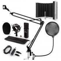 CM001B Microphone Set V5 Condenser Microphone Arm POP-Shield Screen