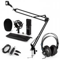 CM001B Microphone Set V3 Headphone Condenser USB-Adapter Microphone Arm black