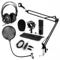 CM001B Microphone Set V4 Headphones Condenser USB Adapter Arm POP Protection