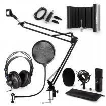 CM001B Microphone Set V5 Headphone Condenser Screen Arm POP Protection Black