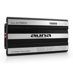 Auna Ampli 6 canaux bridgeable mosfet bass boost 10000W