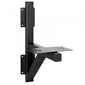 Supporto parete altoparlanti <20 kg in alluminio nero