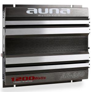 Auna AB-250 Amplificatore Auto 1/2 canali 2 x 90W RMS, 1200W max