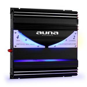 Auna AMP-CH02 Amplificatore Finale Auto 1400W - 190W RMS 2 canali mono LED