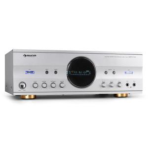 AMP-218 5.1-Receiver 600W Design-Blende silber