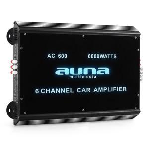 Amplificador coche Auna W2-AC600 6 canales LED. 6000W