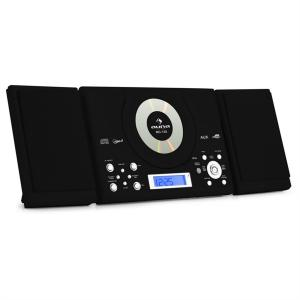 MC-120 Microanlage Vertikalanlage MP3-CD-Player USB AUX Wandmontage schwarz