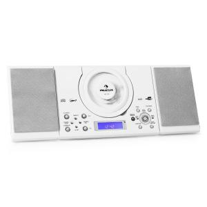 MC-120 Microanlage Vertikalanlage MP3-CD-Player USB AUX Wandmontage weiß