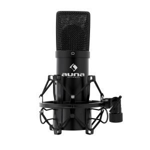 Auna MIC-900B USB Microphone cardioide de studio à condensateur noir