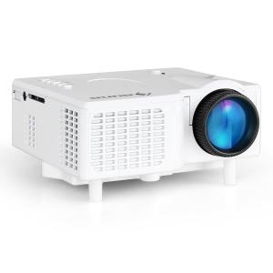Mini Proyector LED VGA AV blanco