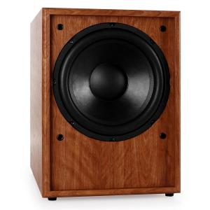 "Line 300-SW-WN Active 10"" Subwoofer - Walnut Wood"