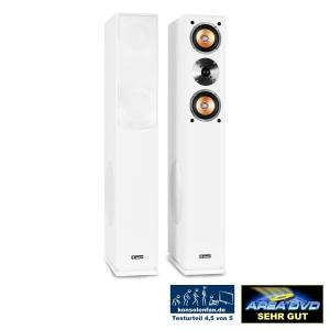Auna Linie-500-WH paire d'enceintes colonnes 140W RMS -blanc