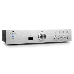 Auna AV2-CD508BT amplificatore HiFi AUX bluetooth argento