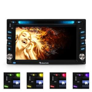 Auna MVD-480 Autoradio multimediale Bluetooth DVD USB HD 6,2''