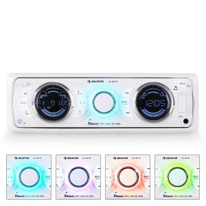 Auna MD-170-BT autoradio MP3 USB bianca